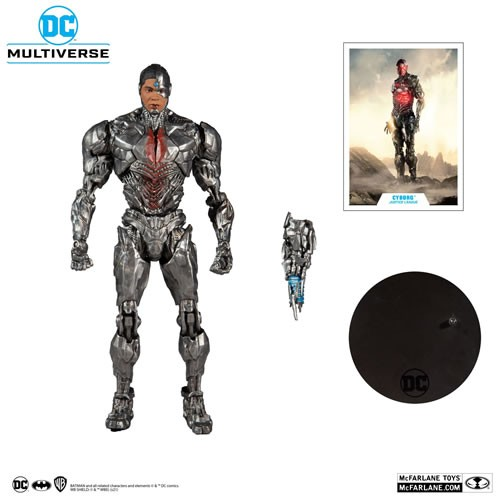 "DC Multiverse Figures - Justice League (2021 Movie) - 7"" Scale Cyborg"
